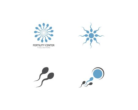 Fertility Sperm logo vector template Vettoriali