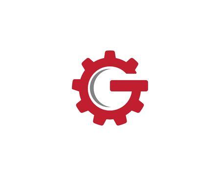 Gear Logo Template vector icon illustration design Illusztráció