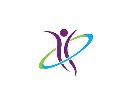 Human character logo sign Health care logo sign. Nature logo sign