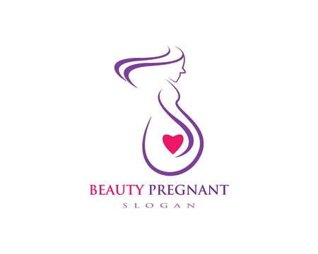 pregnant women vector icon template Illustration