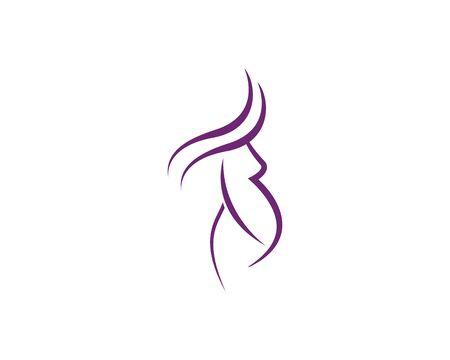 pregnant women vector icon template Ilustracja