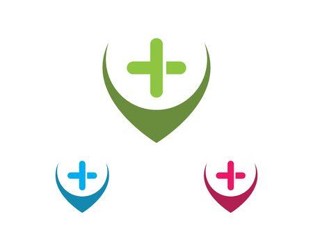 Health Medical Logo template vector illustration design Ilustracja