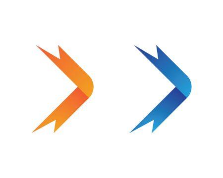 Arrows vector illustration icon Logo Template design Archivio Fotografico - 126678684
