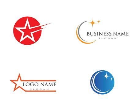 Star Logo Template vector icon illustration design  イラスト・ベクター素材