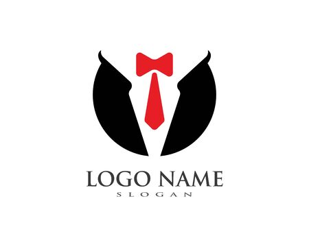 Tuxedo logo vector template ilustration Vectores