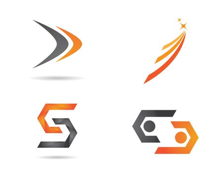 Faster Logo Template vector icon illustration design Vettoriali