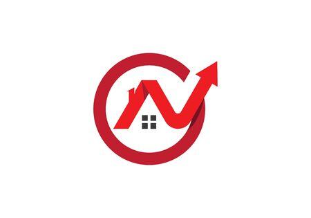 Real Estate , Property and Construction Logo design Ilustração
