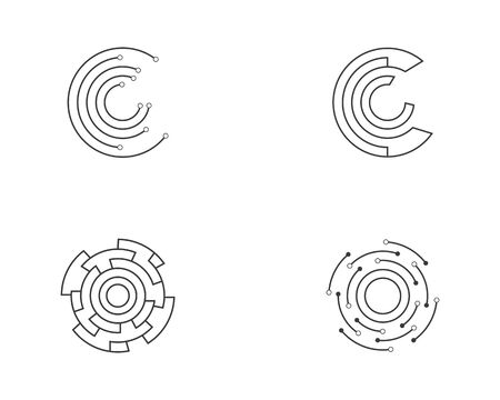 circuit ilustration vector template