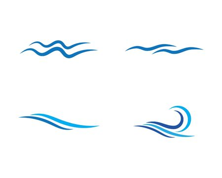 water wave Logo Template vector illustration
