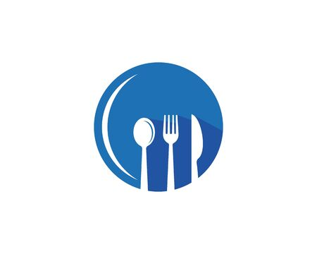 fork and spoon icon vector template Vettoriali