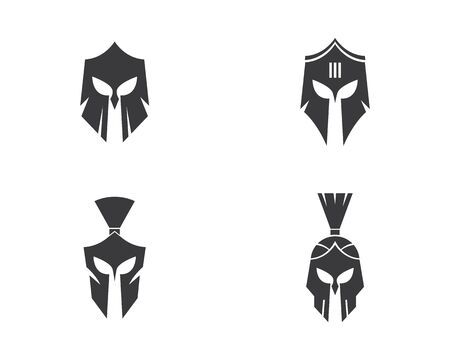 spartan logo vector icon template Illustration