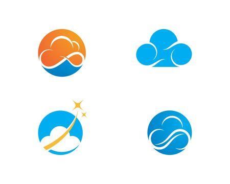 cloud technology vector logo template design vector 스톡 콘텐츠 - 127137850