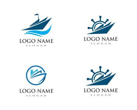 cruise ship Logo Template vector icon design Illusztráció