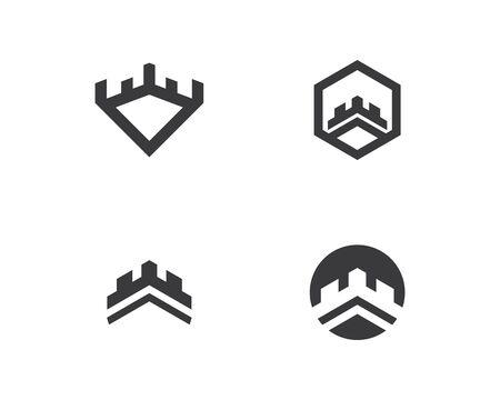 castle logo vector template