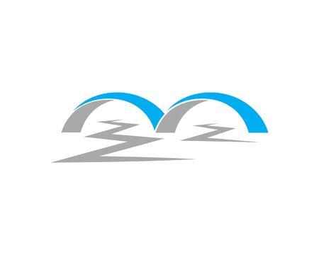 bridge ilustration logo vector template