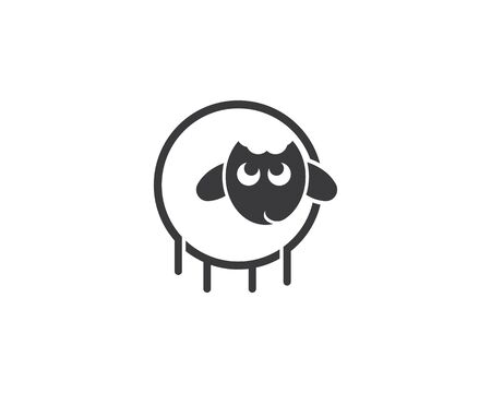 sheep logo vector icon template Illustration