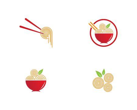 noodle logo  design vector ilustration template 矢量图像