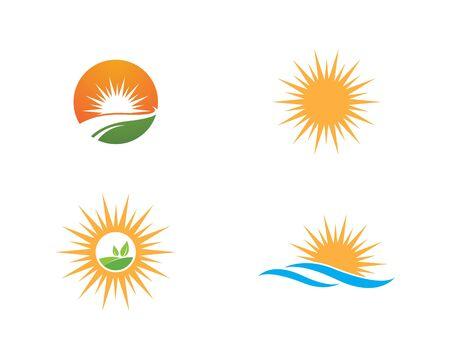 sun ilustration logo vector icon template Stock Illustratie