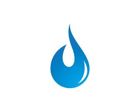 water drop Logo Template vector illustration design Illustration