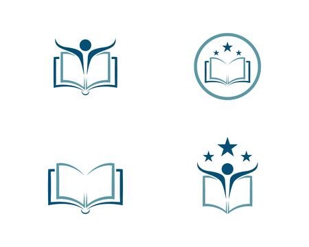 Book Education Logo Template vector illustration design