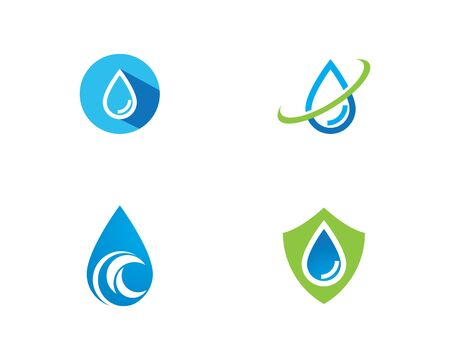water drop Logo Template vector illustration design Illustration