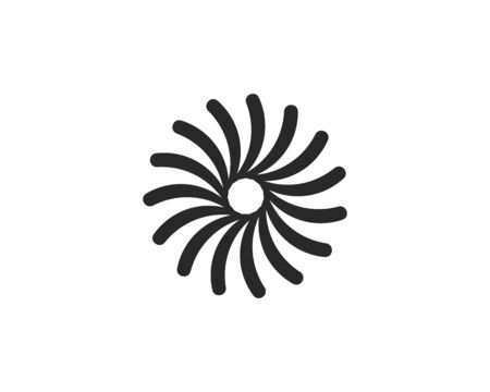 Business logo, vortex, wave and spiral icon vector template