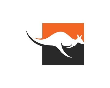 kangaroo Logo Template vector illustration