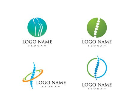 Spine diagnostics symbol logo template vector illustration design
