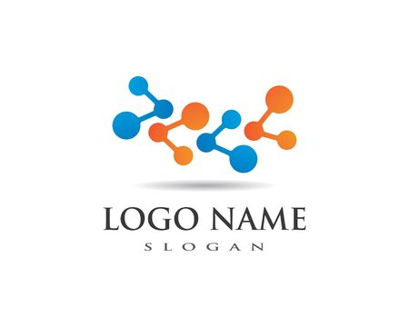 molecule logo vector icon template