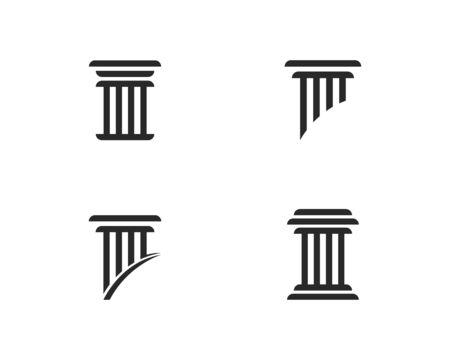 column Logo vector Template Illustration