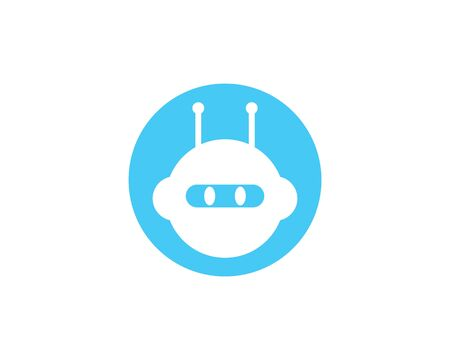 Robot logo vector template