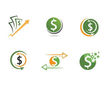 Business acounting money logo vector template