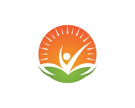 Healthy Life people Logo template vector icon