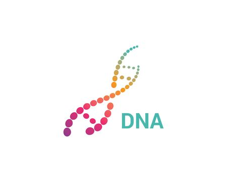 DNA logo vector icon template Vettoriali