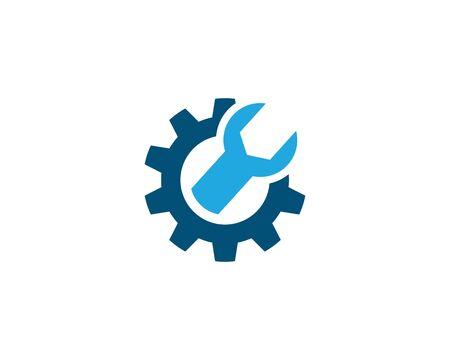 Auto repair logo vector icon template Illustration