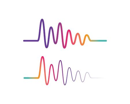 Pulse line ilustration logo vector icon template