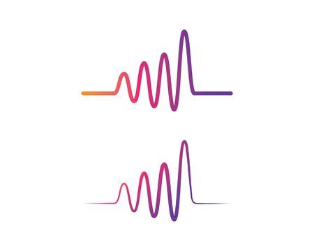 Pulse line ilustration logo vector icon template