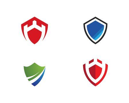 Shield symbol logo template vector illustration Illustration