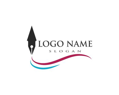 pen Logo template Vector illustration