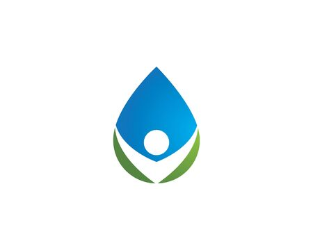 water drop Logo Template vector illustration design Illusztráció