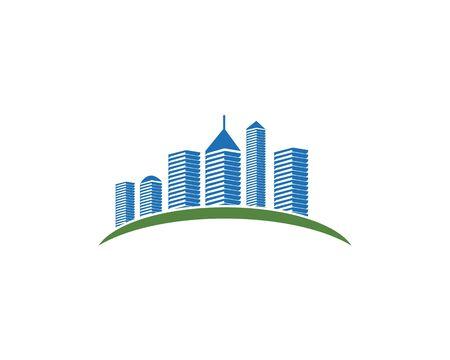 Modern City skyline . city silhouette. vector illustration in flat design Banco de Imagens - 127415114