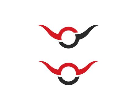 Bull Horn Logo Template vector icon illustration