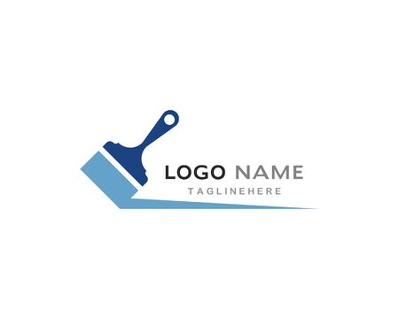 paint logo business vector icon template