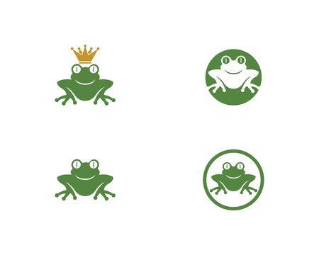 Frog Logo Template vector illustration