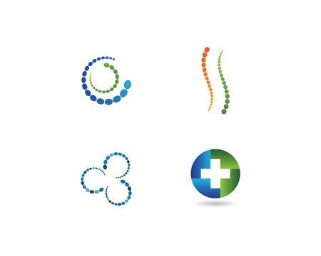 Spine diagnostics hospital logo template vector illustration design