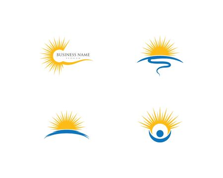 sun ilustration logo vector icon template Ilustracja