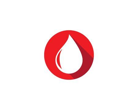 Blood logo icon vector template