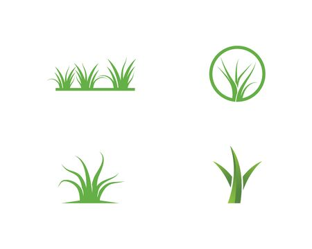 Grass logo vector template