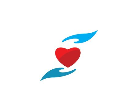 Heart Care Logo Template vector icon Business Illustration