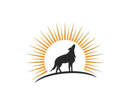 Wolf Logo vector Template